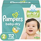 Diapers Size 2, 112 Count - Pampers Baby Dry Disposable Baby Diapers, Super Pack