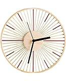 和室スタイルの竹の壁時計、手作りのシンプルなサイレント時計、リビングルームのキッチンのベッドルームの装飾、ギフト用 (色 : B)