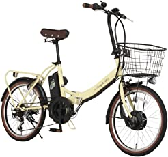 Raychell(レイチェル) 20インチ 折りたたみ 電動自転車 FB-206R-EA 6段変速 グリップシフト フロントLEDライト [メーカー保証1年]