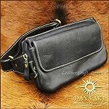 高級牛革使用 ベルト調節可能 カーフスキンウエストバッグ