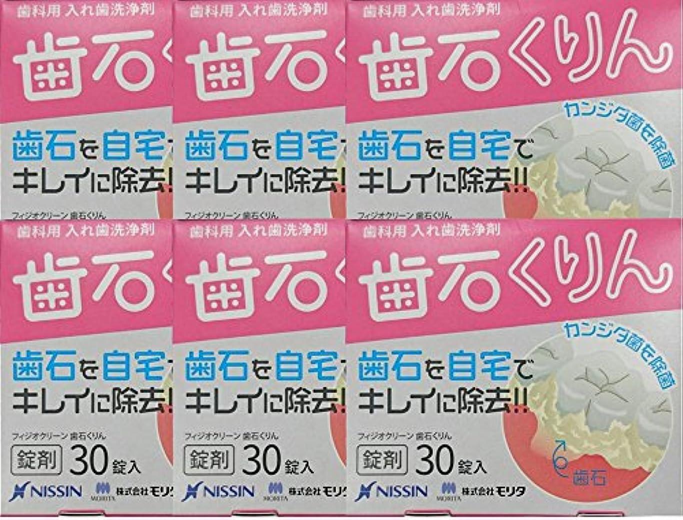 敵アンソロジー満足させるフィジオクリーン 歯石くりん30錠 (6箱)