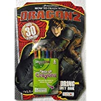 Bundle-C How to Train Your Dragon 2 Shaped 80 Page Coloring and Activity Book with Stickers. Plus One Pack of Twist-Up Crayons by DreamWorks How to Train Your Dragon [並行輸入品]
