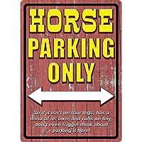 Horse駐車場Tin Sign Riversエッジ製品1522