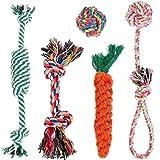 Lictin犬用 ロープおもちゃ 犬噛むおもちゃ 犬の歯磨き用おもちゃ 小型犬と中型犬に適用し5個セット