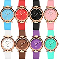 Yunanwa Wholesale Lot of 8-10 Pack Assorted Silicone Watch Women Men Unisex Jelly Watches