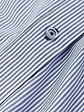ネイビーペンシルストライプシャツ WDslim 切替前立 メイルアンドコー画像⑤