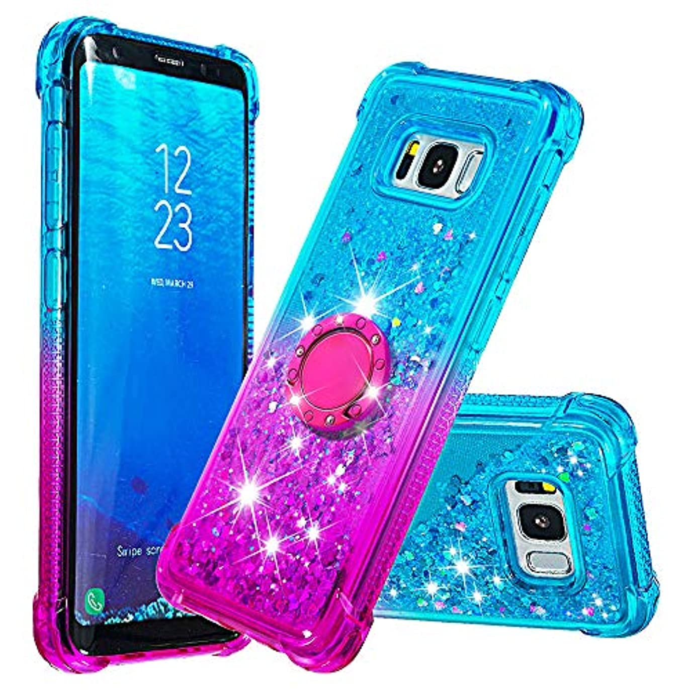 遠足インフレーションメタリックNEXCURIO Galaxy S8 / docomo SC-02J / au SCV36 キラキラ ケース ソフト シリコン 耐衝撃 擦り傷防止 ギャラクシーS8用ケース カバー おしゃれ - NEYBO480207 リング #3