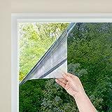 窓 断熱シート マジックミラー フィルム 目隠し uvカット 断熱 遮光 日よけ ガラス破片飛散防止 はがせる 残りなし めかくしシート シール 外から見えない 網入りガラスも適用(ミラー 44.5x200cm)