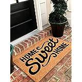 Tar Heel MarketPlace Mats Natural Coir Non Slip Home Sweet Home Floor Entrance Door Mat Indoor/Outdoor (24, 36)