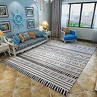リビングルームソファーコーヒーテーブルクッション、ベッドサイドベッドルーム長方形の絨毯、洗えるカーペット(120x160cm、140x200cm)