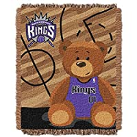 "NBA Half Court Woven Jacquard Baby Throw、36 "" x 46 """