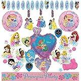 ディズニー プリンセス 女の子 誕生日パーティー用品 景品 プラスチックカップ ステッカー ブローアウトセット 8人用 マルチカラー ss