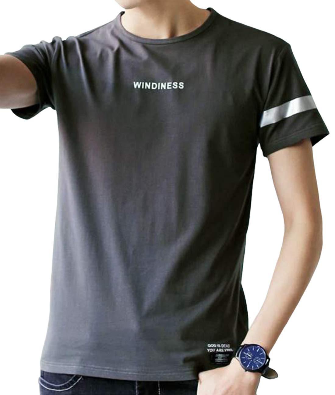 夏 大きい カジュアル YIOHYHD 無地 大きい サイズ メンズ Tシャツ 半袖 サイズ トップス ゆったり Tシャツ
