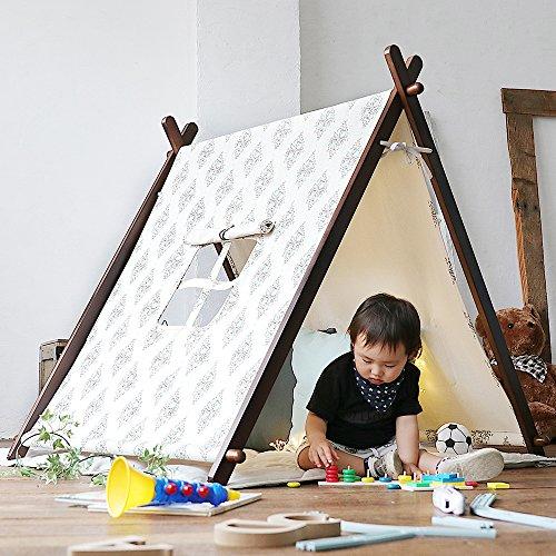 小さい頃は秘密基地、成長したらハンガーラックに!長く使える2wayテントセット
