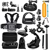 BlueWind Action Camera Accessories Kit for GoPro Hero 6 Hero 5 Hero 4 Gopro Hero Session Hero 3 AKASO EK7000 EK5000 Apeman A80 A70 Action Camera Accessory Essential Bundle Kit