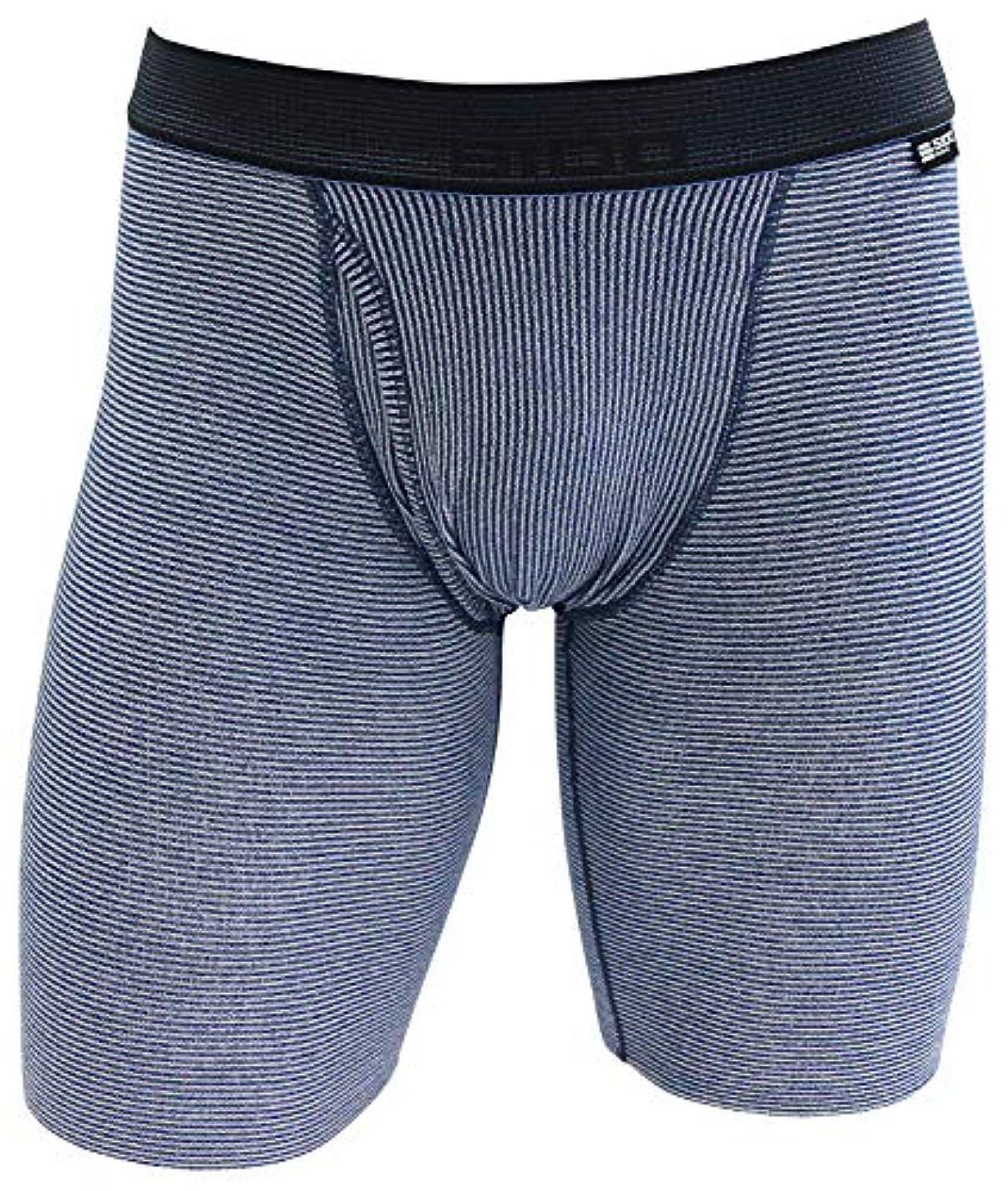 エンゲージメントランチョンバーマドSIDO(シドー) 包帯パンツ 前開きエキストラロングボクサー ネイビー L(84~94cm) 1081