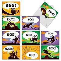 boo-tifulノートハロウィンジョーク用紙カード 10 Assorted Halloween Cards (M6688HWG)