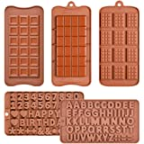 Chocolate Molds Silicone Candy Molds - Break Apart Chocolate Molds Candy Protein and Engery Bar Silicone Mold Set of 3