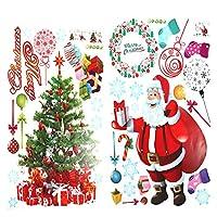 Demiawaking ウォールステッカー 窓シール クリスマステーマ 漫画 PVC 剥がせる クリスマスの雰囲気を高め 壁・ガラス・ドア飾り