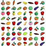 Ranvi 30PCS子供の消しゴム、子供のゲーム賞パーティー、カーニバル、および学校供給品のためのミニパズル鉛筆消しゴム(野菜)