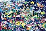 1000ピース 光るジグソーパズル めざせ! パズルの達人 ホラグチカヨ 海底王国の宝探し(50x75cm)