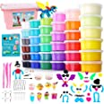HOLICOLOR 36 Colors Air Dry Clay Kit Magic Modeling Clay Ultra Light Clay with Accessories, Tools and Tutorials for Kids DIY