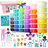 HOLICOLOR Air Dry Clay Kit, 36 Colors Magic Clay Modeling Clay for Kids with Accessories, Tools and Tutorials, Arts and Craft