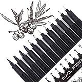 Micro-Pen, Fineliner Ink Pens, Black Fineliner Drawing Pen, Waterproof,Great for Artist Illustration, Sketching, Technical Dr