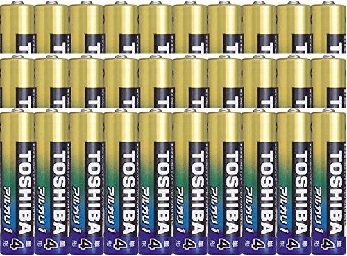 日本製 単4アルカリ乾電池(黒)30本