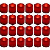 24 Pack LED Tea lights Candles - Flickering Flameless Tealight Candle - Battery Operated Electronic Fake Candles - Decoration