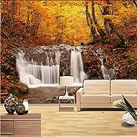 Lcymt 森の滝自然写真の壁紙壁画のリビングルームの寝室の壁紙3D家の装飾の自己接着ビニール/シルクの壁紙-120X100Cm