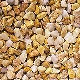 天然石 玉石砂利 1-2cm 30kg クリームイエロー (ガーデニングに最適 黄色砂利)