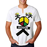 Michael Jackson T Shirt OLODUM Print Tee Shirts They Don't Care About Us' Theme T-Shirt for Fans Gift White
