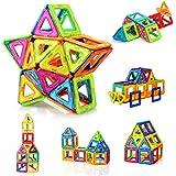 FlyCreat 磁石ブロック マグネット マグネットブロック 磁気おもちゃピタゴラスおもちゃ 磁石おもちゃ マグネットパズル 磁気ブロック 立体マグネット マグネッおもちゃ 磁石パズル3D立体パズル DIY磁気積み木 知育玩具 学習玩具 想像力と創造力を育てる ビルディング積み木 三角形24個 正方形16個 オモチャ 積み木男の子 図形 組み立て 女の子 贈り物 誕生日プレゼント 子ども 出産祝い 入園 クリスマスプレゼント 玩具 創意プレゼント ギフト 40ピース