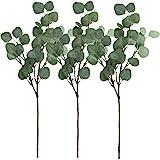 Supla 3 Pcs Artificial Silver Dollar Eucalyptus Leaf Spray in Green 60cm Tall Artificial Greenery Holiday Greens Christmas gr
