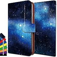 [KEIO ブランド 正規品] MADOSMA Q501A-WH ケース 手帳型 夜空 Q501AWH 手帳型ケース スカイ MADOSMA カバー Q501A-WH 空 天の川 マドスマ ケース Q501AWH 星 ittn空天の川t0421