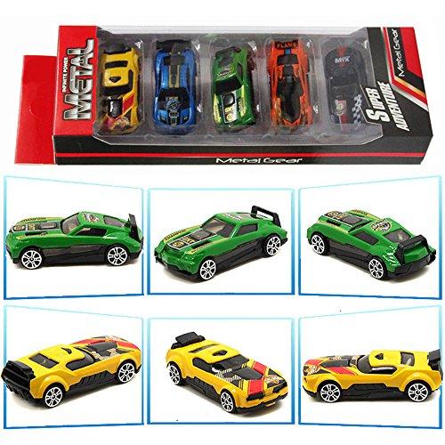 TheChoice 1/64 合金&プラスチック製 ミニカー レーシングカー ランダム 5台セット モデルカー 自動車模型 情景コレクション