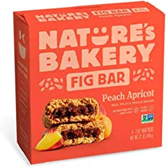 Nature's Bakery Peach Apricot Fig Bar, 56.7g (Pack of 6)