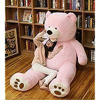 MILEE クマぬいぐるみ 200cm 可愛いくま/抱き枕/クマ縫い包み/プレゼント/イベント/お祝い/ふわふわぬいぐるみ ソフト 可愛いぬいぐるみ (ピンク)
