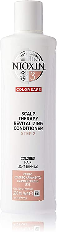 Nioxin System 3 Scalp Therapy Revitalizing Conditioner for Coloured Hair with Light Thinning, 300ml