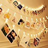 SFOUR LEDストリングライト 5M 30LED 写真クリップ ライト 防水 USB 結婚式 写真壁 誕生日 クリスマス 吊り下げ写真 暖かい色 (5) (5.00)