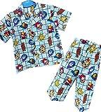 妖怪ウォッチ 半袖 リップルパジャマ 前開き 上下セット (Aサックス/120cm)