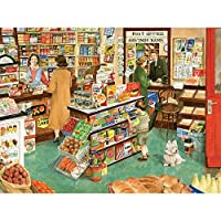 Bits and Pieces–500ピースジグソーパズルfor Adults–村Shop–500pc Small Town General Storeジグソーby Artist Tracy Hall