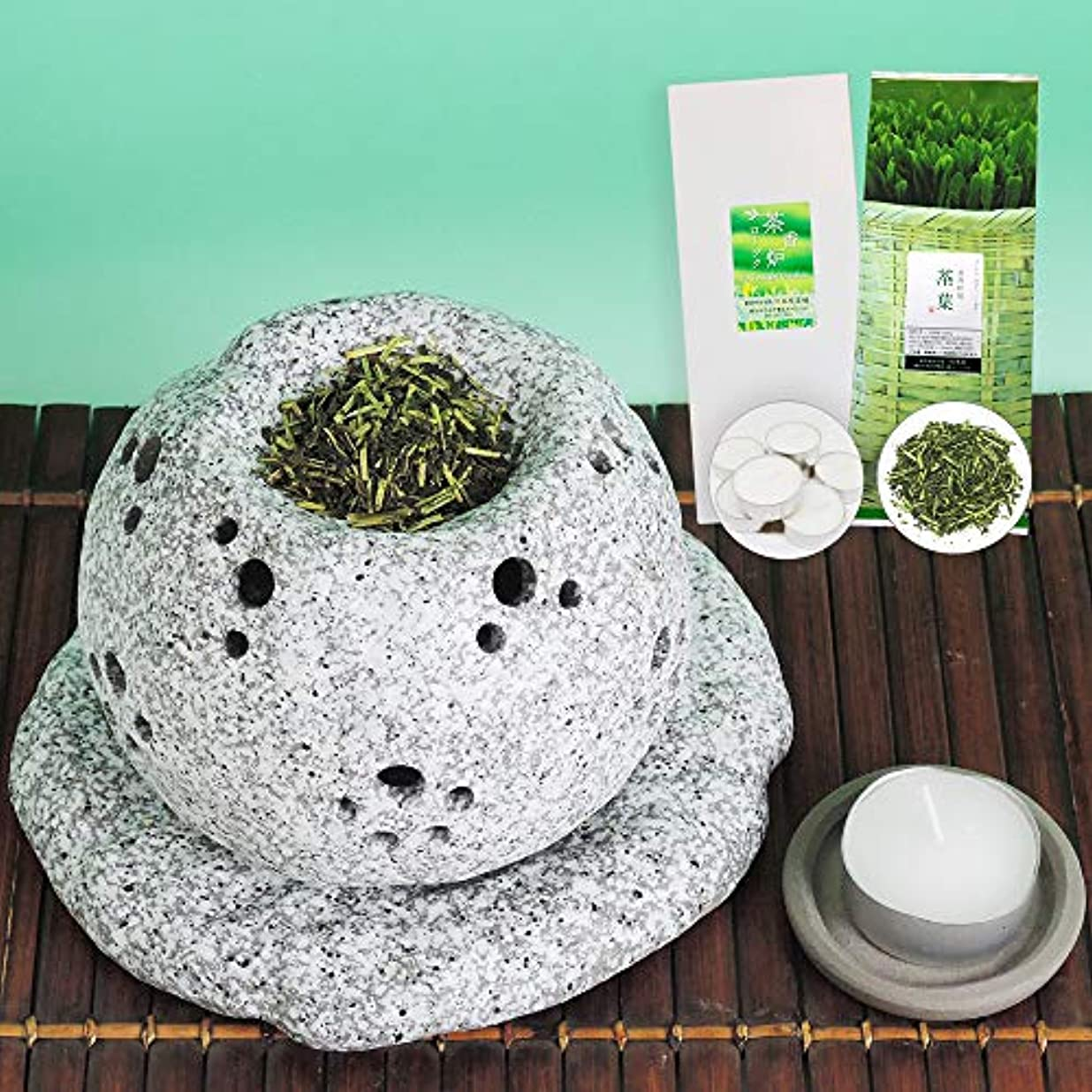 選ぶ岩不愉快元祖 茶香炉セット 茶香炉専用茶葉&ローソク付 川本屋茶舗
