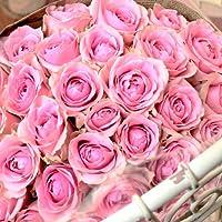 〔エルフルール〕 バラの花束 30本 カラー:ピンク 結婚記念日 プレゼント 薔薇 誕生日祝い 贈り物 母の日 花