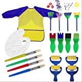 Centtechi cagg0060 Kids Early Learning Sponge Painting Brushes Kit,18Pcs Sponge Drawing Shapes Paint Craft Brushes for Toddle