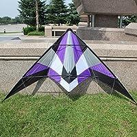 パープルKite Flying自体を簡単ハンドルworking-classoutdoor楽しいスポーツ、なFlying、素晴らしいサウンドフル合理化されたデザイン