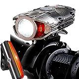 自転車ライト ヘッドライト【改良版】 1200ルーメン 2000mah IP65防水 フロントライト テールライト USB充電式 高輝度 超小型 アウトドア専用 釣り ハイキング 簡単取り付け