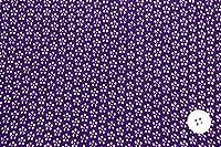 ノーブランド品 ちりめん小紋生地 梅尽くし 紫 約70cm×50cm 【ハンドメイドのための小さな布】