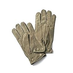 Goat Suede Gloves: Greige